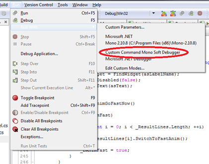 net \u2013 jeff on gamessecond up, you will want to add an environment variable to your system called monodevelop_sdb_test and set it to 1 this gives you access to the following